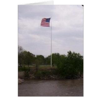 High Flying Flag Greeting Card