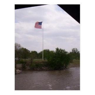 High Flying Flag Post Card