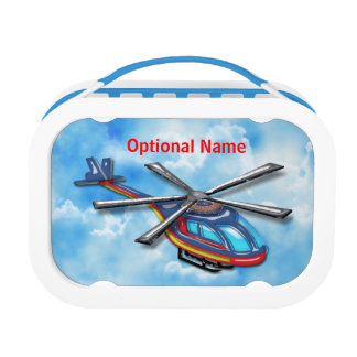 High Flying Helicopter in the Clouds Lunch Box