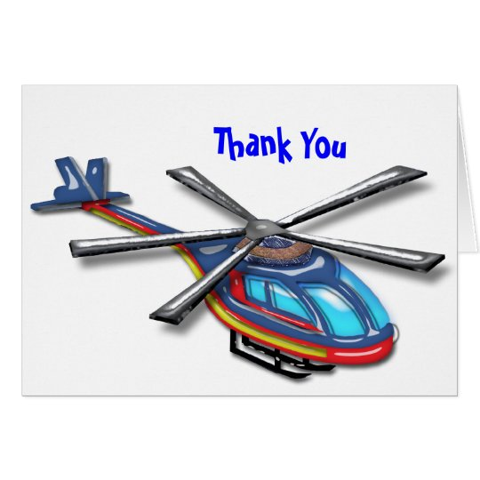 High Flying Helicopter  Thank You Card