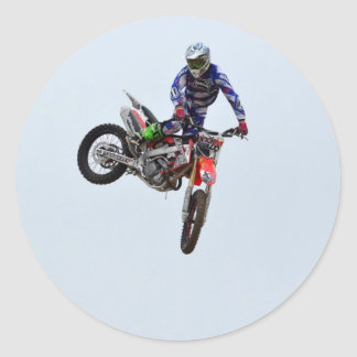High Flying Motocross Classic Round Sticker