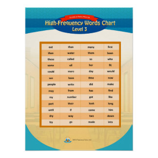 High Frequency Words Chart - Level 3