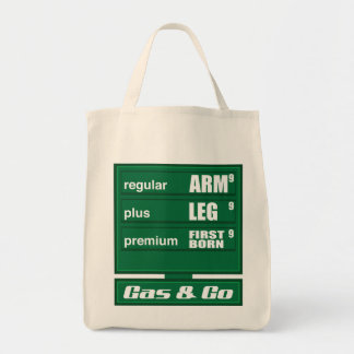High Gas Prices Canvas Bags