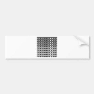 High grade silver background car bumper sticker