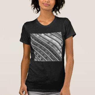 High grade silver metal graphic t shirt
