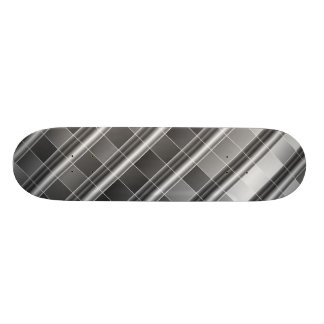 High grade silver metal skate board