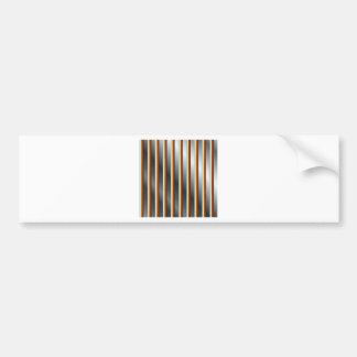 High grade stainless steel bars car bumper sticker