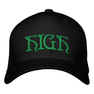 HIGH Hat Embroidered Baseball Caps