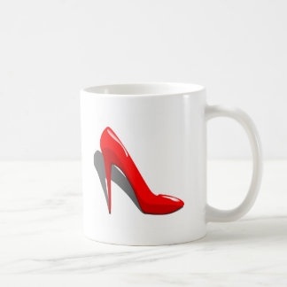 High-heel Basic White Mug