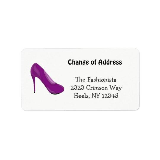 High Heel Fashionista New Address Address Label