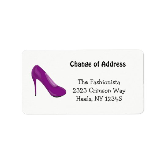 High Heel Fashionista New Address Label