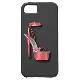 High Heel Ladies Shoe Pink Shiny Case For The iPhone 5