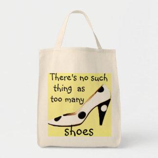 High Heel Polka Dot Shoe Shopaholic Tote Bag