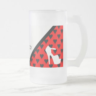 HIGH HEEL PUMP IT UP FROSTED GLASS MUG