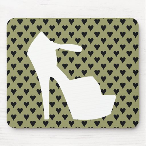 HIGH HEEL - PUMP IT UP SAGE ON STAGE HEARTS MOUSE MAT