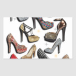 High Heel Shoe Collage Sparkle Fashion Pumps Stickers
