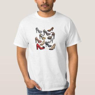 High Heel Shoe Collage Sparkle Fashion Pumps Tee Shirt