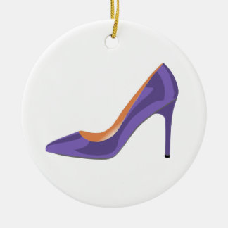 High Heel Shoe in Ultra Violet Christmas Ornament