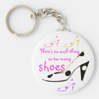 High Heel Shoes Diva Basic Round Button Key Ring