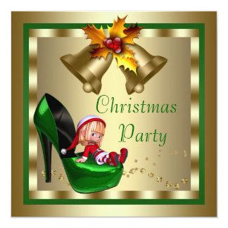 High Heel Shoes Elf Christmas Party 13 Cm X 13 Cm Square Invitation Card