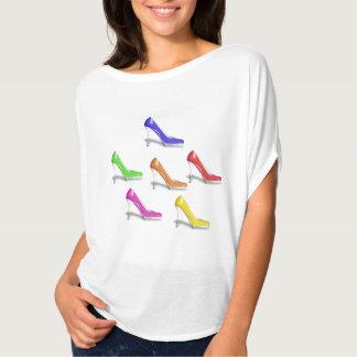 HIGH HEEL SHOES (GAY COLORS) Circle Top Shirt
