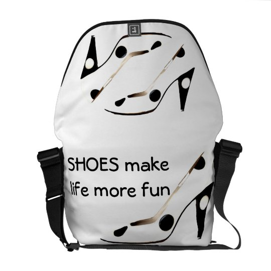 High Heel Shoes Make Life More Fun Courier Bags