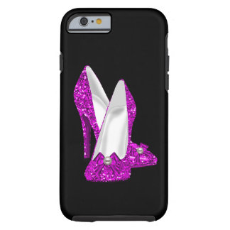 High Heel Shoes Stileto Glitter Pink Tough iPhone 6 Case