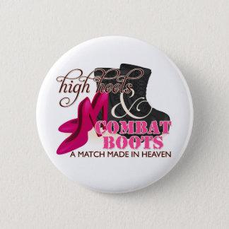 High Heels and Combat Boots (Black) 6 Cm Round Badge