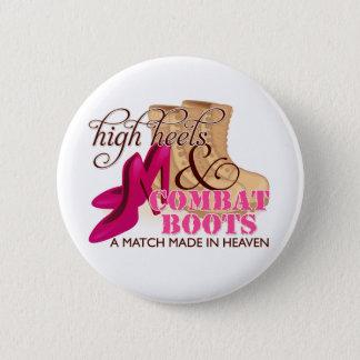 High Heels and Combat Boots (Desert) 6 Cm Round Badge