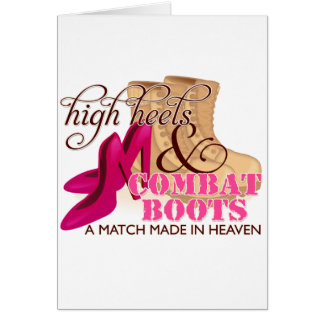 High Heels and Combat Boots (Desert) Card