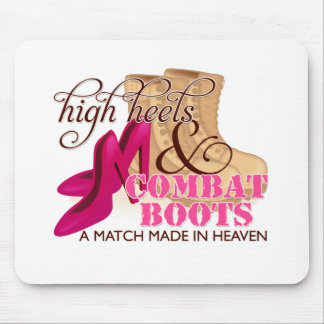 High Heels and Combat Boots (Desert) Mouse Pad