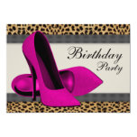 High Heels Hot Pink Leopard Birthday Party