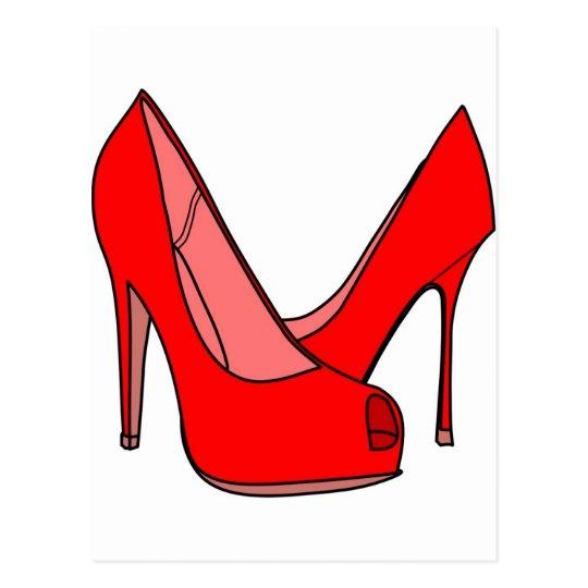High heels postcard