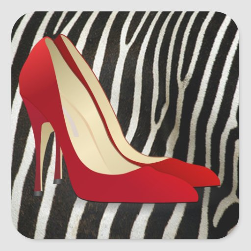 high heels red stickers