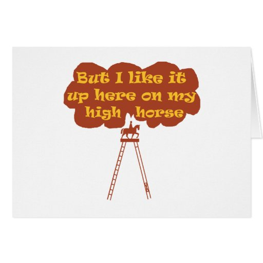 High Horse Greeting Cards