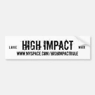 HIGH IMPACT Love & War bumper sticker