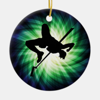 High Jump Silhouette; Cool Christmas Ornament