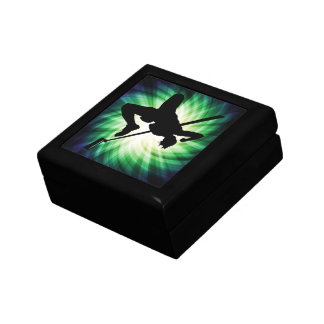 High Jump Silhouette; Cool Small Square Gift Box