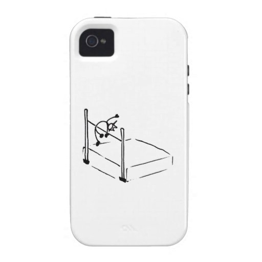 High Jump StickMan Track and Field Vibe iPhone 4 Cover