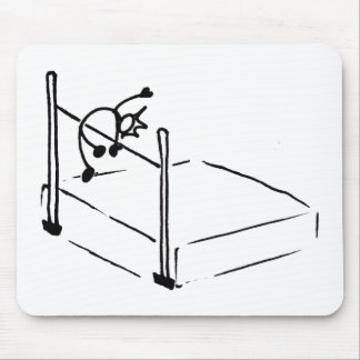 High Jump StickMan Track and Field Mouse Mat