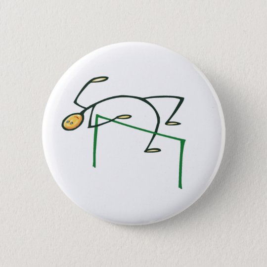 High Jump T-shirts and Gifts. 6 Cm Round Badge