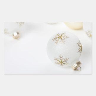 High Key Christmas Ornament Holiday Template Rectangular Sticker