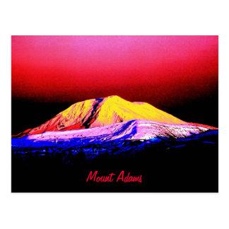 High Key Neon Abstract Mount Adams Postcard