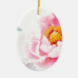 High Key Pink Peony Flower Christmas Ornament