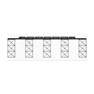 High Level Bridge w/ Crossing Steam Locomotive N/S Stretched Canvas Prints