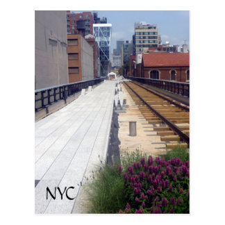 high line rails nyc postcard