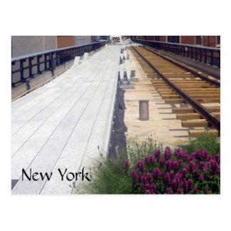 high line rails postcard