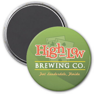 High-Low Brewing Company 7.5 Cm Round Magnet