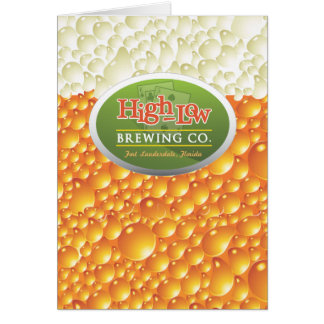 High-Low Brewing Company Greeting Card