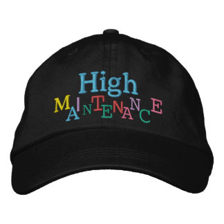 HIGH MAINTENANCE Cap by SRF Embroidered Hat